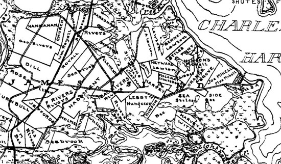 Drawing Of Fort Johnson From Fort Sumter Kollock Property Map